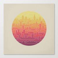 skyline Canvas Prints featuring Skyline by Rick Crane