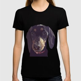 Geometric Sausage Dog Digitally Created T-shirt
