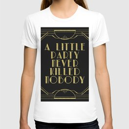 A little party - black glitz T-shirt
