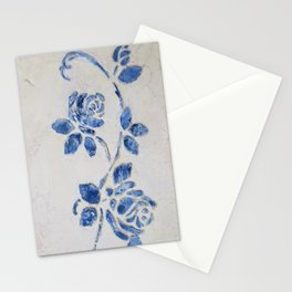 Original Art - Wedgewood Blue Roses - Raised detail & texture Stationery Cards