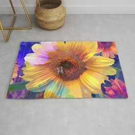 Summer's Sweetest Sunflowers Rug