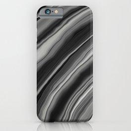 Liquid Black Gray White Agate Dream #2 #gem #decor #art #society6 iPhone Case