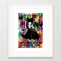 basquiat Framed Art Prints featuring Basquiat  by Zoé Rikardo