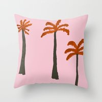 palms Throw Pillows featuring Palms by Georgiana Paraschiv