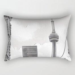 Monochrome Tower Rectangular Pillow