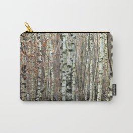 Birkenwald im Winter Carry-All Pouch