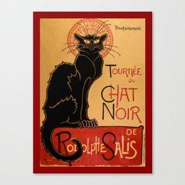 La tournée du Chat Noir  (The Black Cat show) Canvas Print