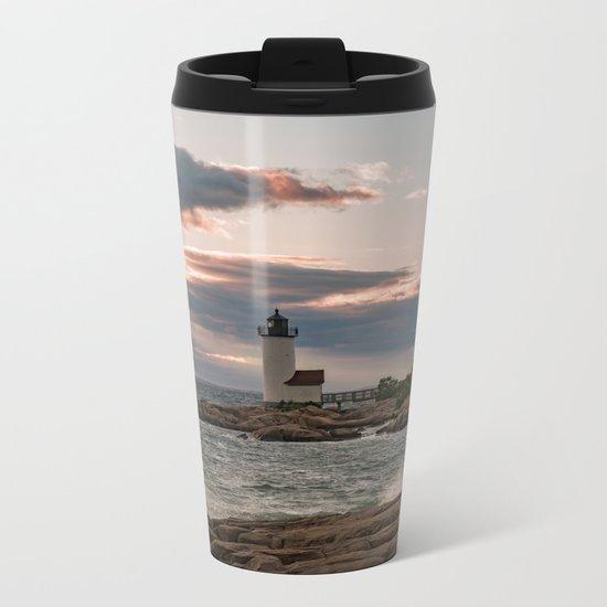 Annisquam Lighthouse sunset Metal Travel Mug