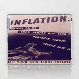 Vintage poster - Inflation Laptop & iPad Skin