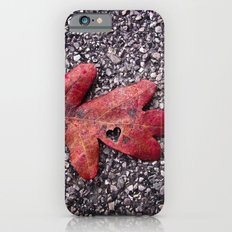 RED LEAF HEART iPhone 6s Slim Case
