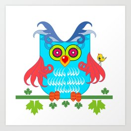 Mr Owl Art Print