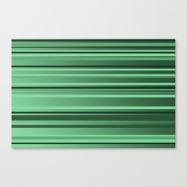 Stripes small only green Canvas Print