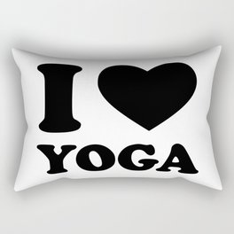 i love yoga Rectangular Pillow
