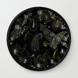 Cactus Garden Paisley 1 Wall Clock