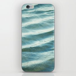 Water Abstract Photography, Ocean Ripples, Blue Teal Sea iPhone Skin