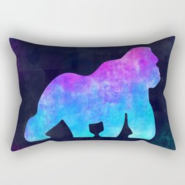 GORILLA IN SPACE // Animal Graphic Art // Watercolor Canvas Painting // Modern Minimal Cute Rectangular Pillow