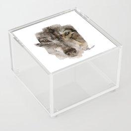 Wolf Acrylic Box
