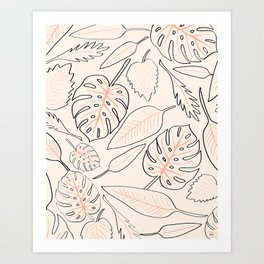 Monstera Pastel Art Print