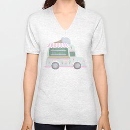 Ice Cream Truck Unisex V-Neck
