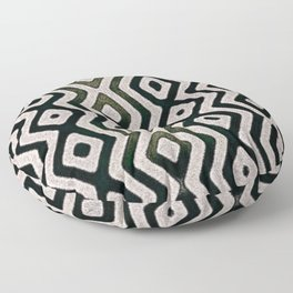 Chic Black And White Geometrical Pattern Floor Pillow