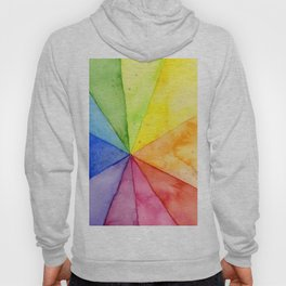 Rainbow Watercolor Geometric Pattern Hoody