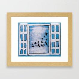 Birds of my neighborhood 2 Framed Art Print