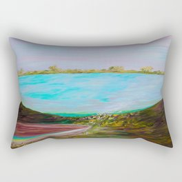 A Boat and a Seamless Sky Rectangular Pillow