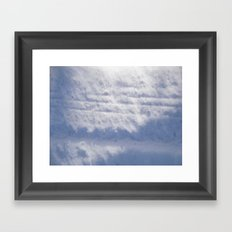 Snowy Treads Framed Art Print