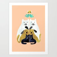 Let's get together Art Print