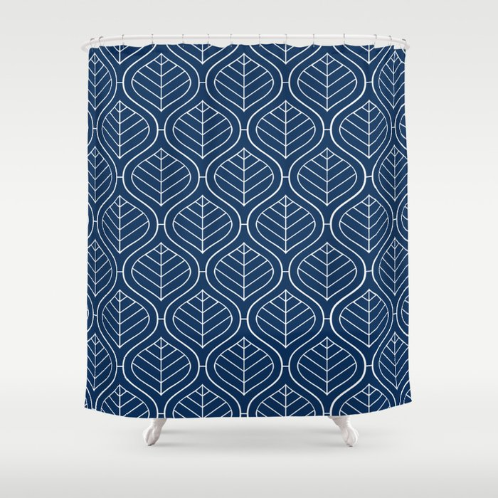 Boho Mod Indigo Shower Curtain