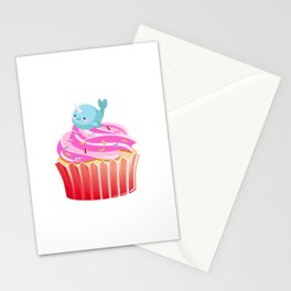 Cute Narwhal T-shirt Cupcake Lovers Tee Stationery Cards