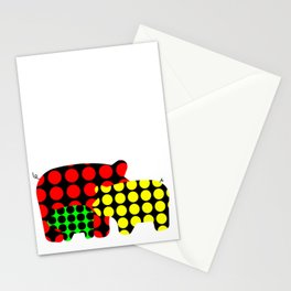 Pigs in dots Stationery Cards