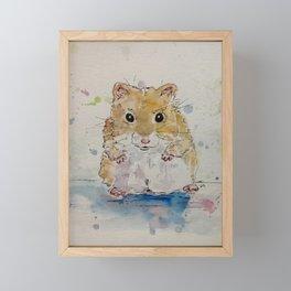 Syrian hamster painting. Framed Mini Art Print