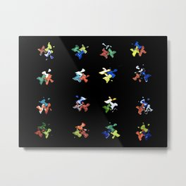 X Marks the Spot (Glass Series) Metal Print