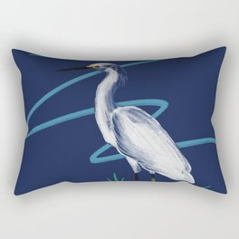 Egret on the Bayou Rectangular Pillow