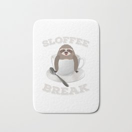 Sloffee Sloth Coffee Sloth In A Cup Christmas Gift Bath Mat