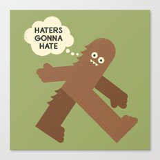 Bigfoot Has So Many Haters Canvas Print