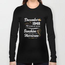 December 1948 Sunshine mixed Hurricane Long Sleeve T-shirt