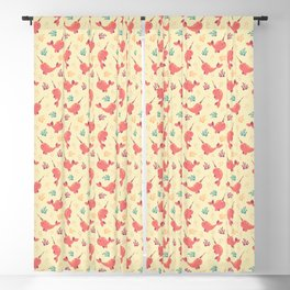 To the Window to the Narwhal - Coral & Cream Blackout Curtain