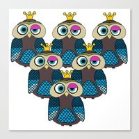 minions Canvas Prints featuring Owl Minions  by Gabriel J Galvan