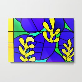 Henri Matisse - Tree of Life - Venice Chapel Window Glass portrait Metal Print