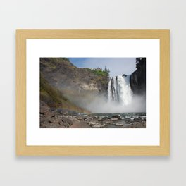 Double Rainbow At The Great Northern Framed Art Print