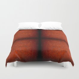 Brown puckered leather material abstract Duvet Cover