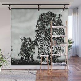 Big Cat Models: Magnified Snow Leopard and Cub 01-04 Wall Mural