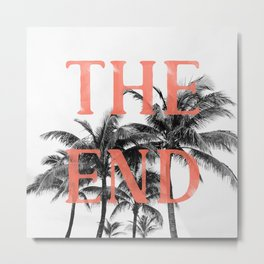 The End (Coral) Metal Print
