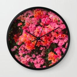 California Blooms Wall Clock