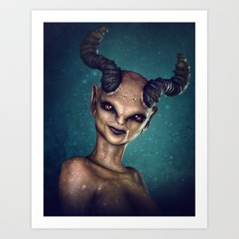 Female Demon Art Print