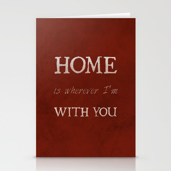 """""""Home"""" Print Stationery Cards"""
