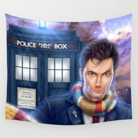 doctor who Wall Tapestries featuring Doctor Who by Carolina Bensler