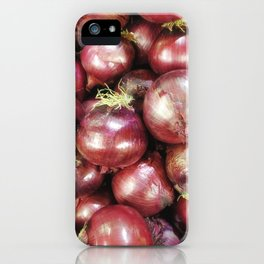 texture of onions iPhone Case